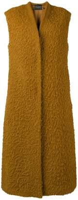 Cavallini Erika sleeveless open front coat