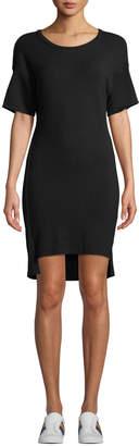 Monrow Scoop-Neck Dolman High-Low Tee Dress