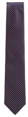BOSS Hugo Italian-made tie in patterned silk jacquard One Size Open Blue