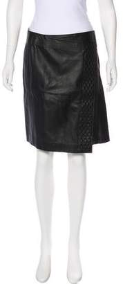 Porsche Design Asymmetrical Leather Skirt