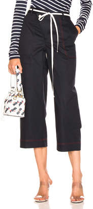Monse Wide Leg Cargo Pant in Navy | FWRD