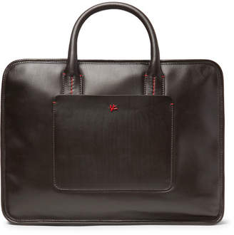 Isaia Leather Briefcase