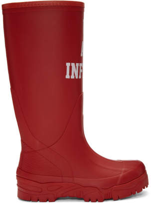 Undercover Red We Are Infinite Rain Boots