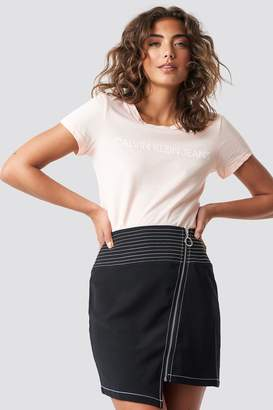 Calvin Klein Institutional Logo Slim Fit Tee Chintz Rose