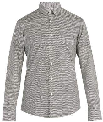 Fendi Ff Print Cotton Shirt - Mens - Black White