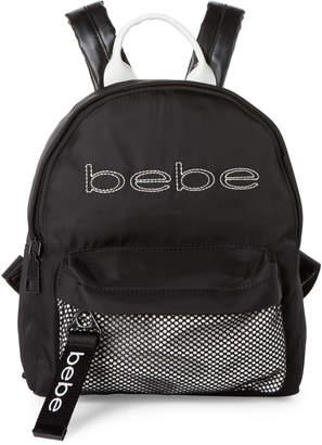 Bebe Black Melanie Nylon Logo Backpack