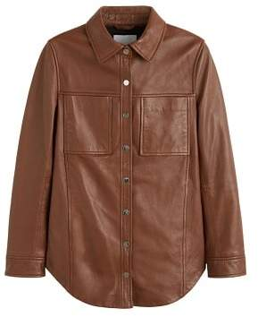 MANGO Pockets leather jacket