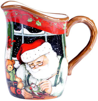 Certified International Santa's Workshop Pitcher