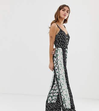 7c875b62f77 Miss Selfridge Petite jumpsuit in mixed floral prints