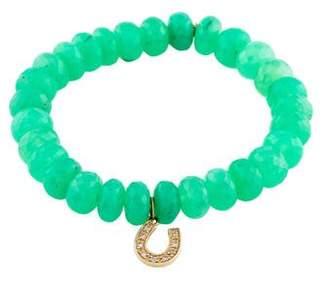 Sydney Evan 14K Chrysoprase & Diamond Beaded Bracelet