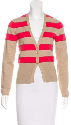 Brunello Cucinelli Cashmere Striped Cardigan