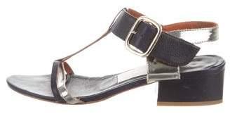 Lanvin T-Strap Ankle Strap Sandals