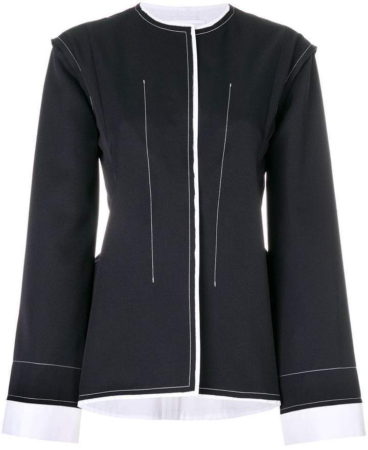 contrasting stitch jacket