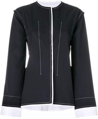 Jil Sander contrasting stitch jacket