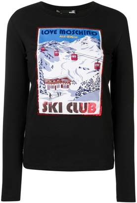 Love Moschino ski patch sweatshirt