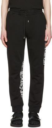 McQ Alexander Mcqueen Black Goth Tattoo Lounge Pants $315 thestylecure.com