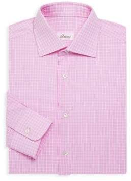 Brioni Cotton Check Dress Shirt