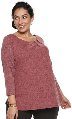 Dana Buchman Plus Size Pleated Top