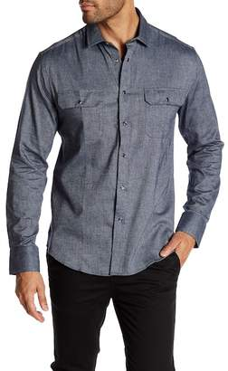 Vince Camuto Double Chest Pocket Snap Sport Shirt