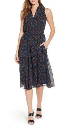 Anne Klein Justine Split Neck Georgette Dress