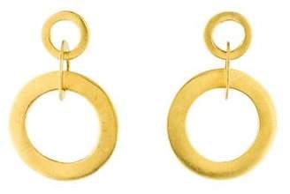 Robin Rotenier 18K Circle Drop Earrings
