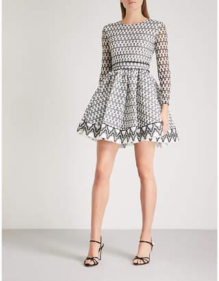Maje Royan embroidered-lace mini dress