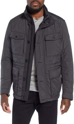 BOSS Cloud Quilted Field Jacket with Stowaway Hood