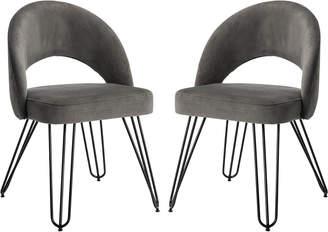 Safavieh Jora Velvet Retro Side Chair