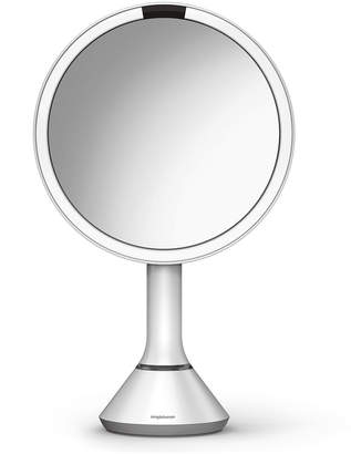 "Simplehuman 8"" Sensor Makeup Mirror with Brightness Control, White"