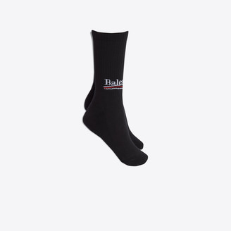 Balenciaga High socks with logo at front ankle