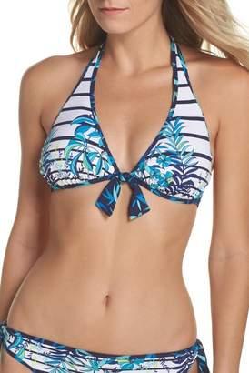 Tommy Bahama Tropical Swirl Reversible Halter Bikini Top