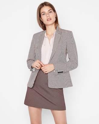 Express High Waisted Textured Clean A-Line Mini Skirt