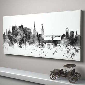 artPause Edinburgh Skyline Cityscape Monochrome Art Print