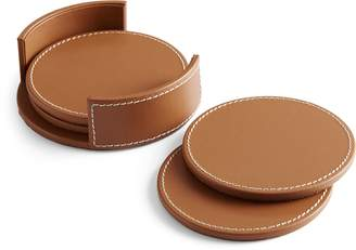 Ralph Lauren Wyatt Leather Coaster Set