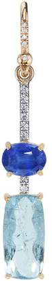 Irene Neuwirth One-Of-A-Kind Aquamarine Rectangle And Sapphire Single Earring
