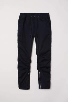 H&M Twill joggers with zips - Black