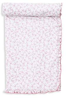 Kissy Kissy Baby Girl's Pima Cotton Bow-Print Blanket
