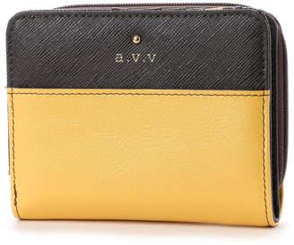 a.v.v (アー ヴェ ヴェ) - アー ヴェ ヴェ a.v.v ラウンドファスナー二つ折財布 (イエロー)
