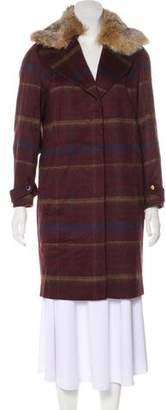 Thomas Wylde Plaid Knee-Length Coat