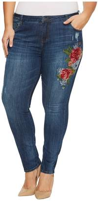 KUT from the Kloth Plus Size Catherine Boyfriend in Premier/Dark Stone Base Wash Women's Jeans