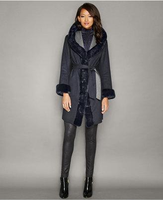 The Fur Vault Rabbit-Fur-Trim Wool-Cashmere Coat $1,995 thestylecure.com