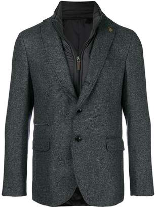 Paoloni padded lining layered blazer