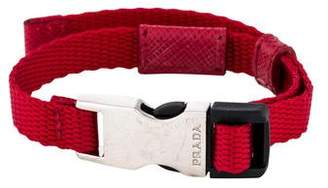 Prada Nylon & Leather Wrap Bracelet