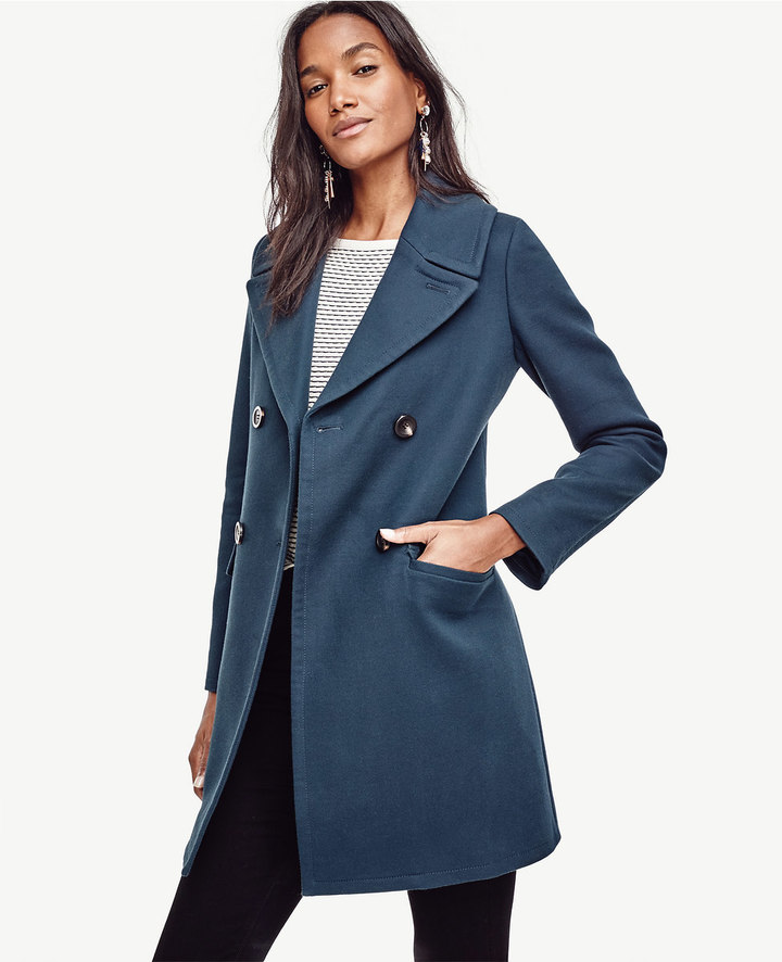 Ann TaylorCotton Twill Double Breasted Coat
