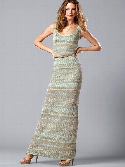 Victoria's Secret Metallic Maxi Dress