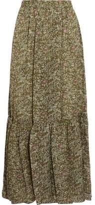 Vanessa Bruno Gilson Printed Silk-Voile Maxi Skirt