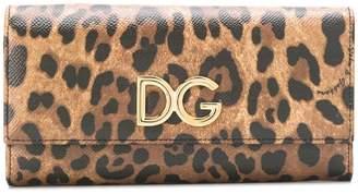 Dolce & Gabbana leopard-print continental wallet