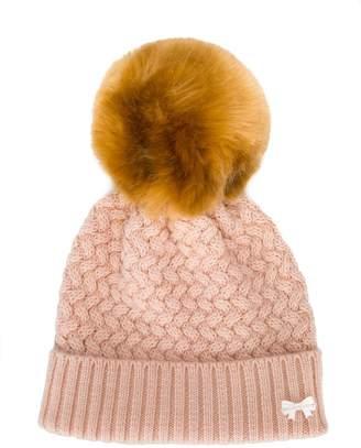 Hucklebones London chunky knit pom pom hat