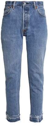 Levi's Re/Done By Faded High-Rise Slim-Leg Jeans