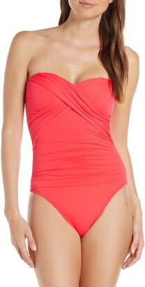 La Blanca Bandeau One-Piece Swimsuit